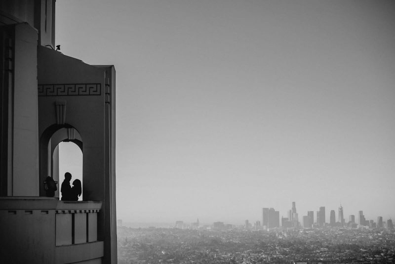 engagement session At Griffith Observatory