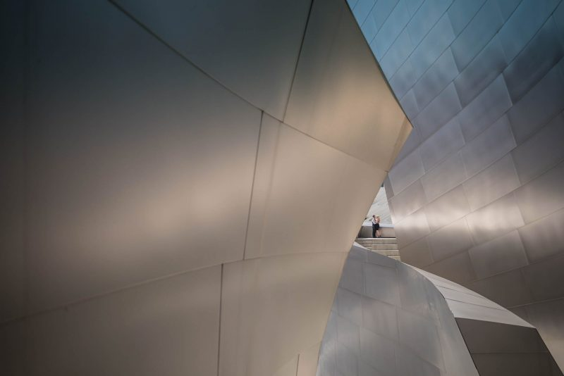 Artistic composition portrait at walt disney concert hall