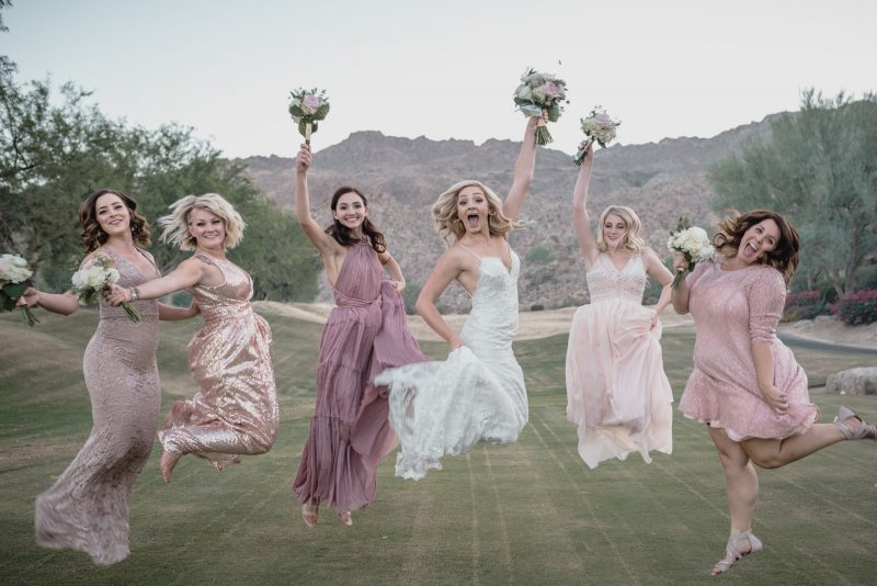 Bride and bridesmaids portrait in Palm Springs.jpg