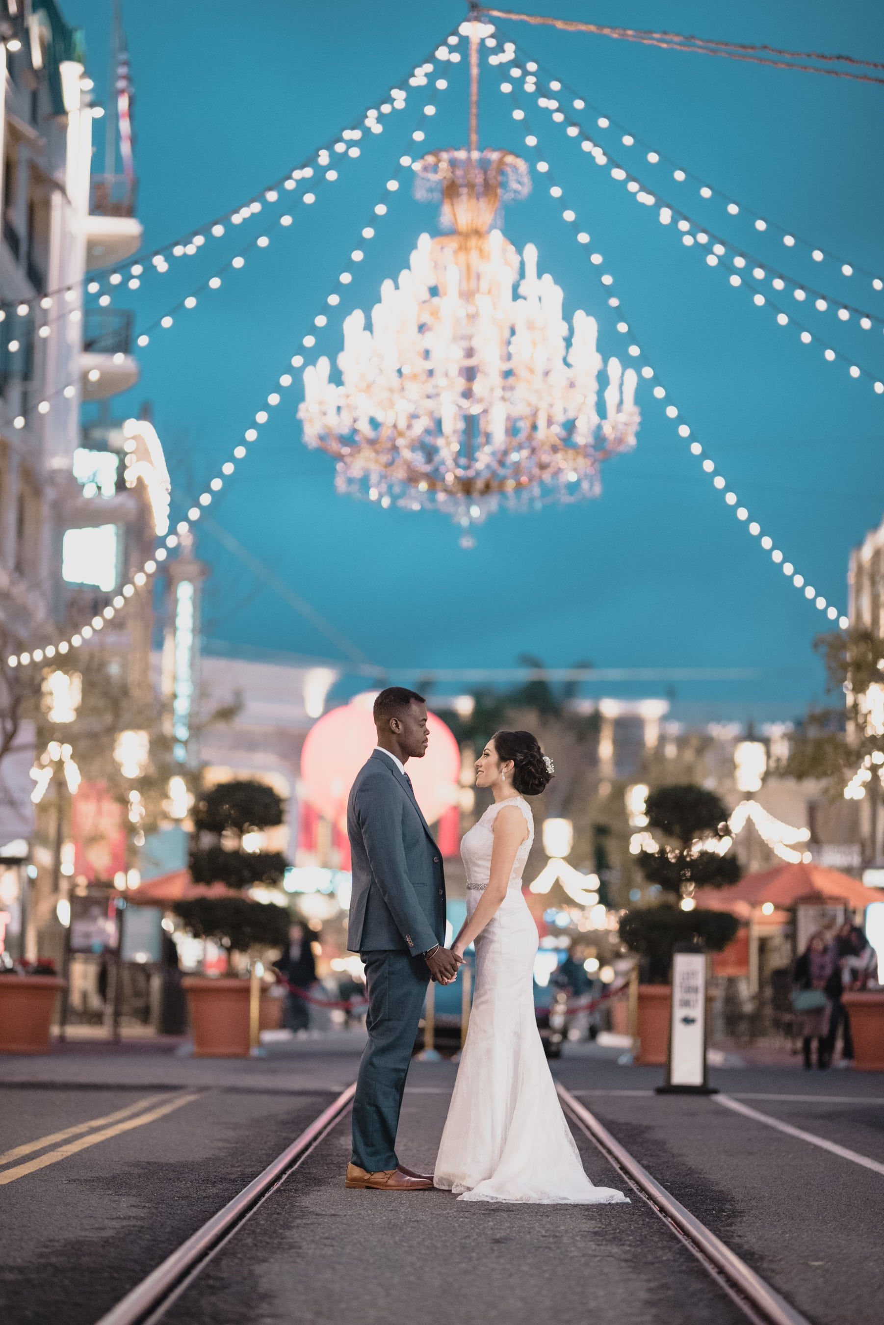Bride and Groom portrait at Glendale Americana.jpg