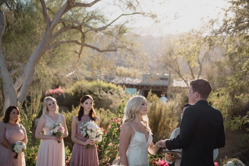 palm springs ceremony by professional wedding photographer