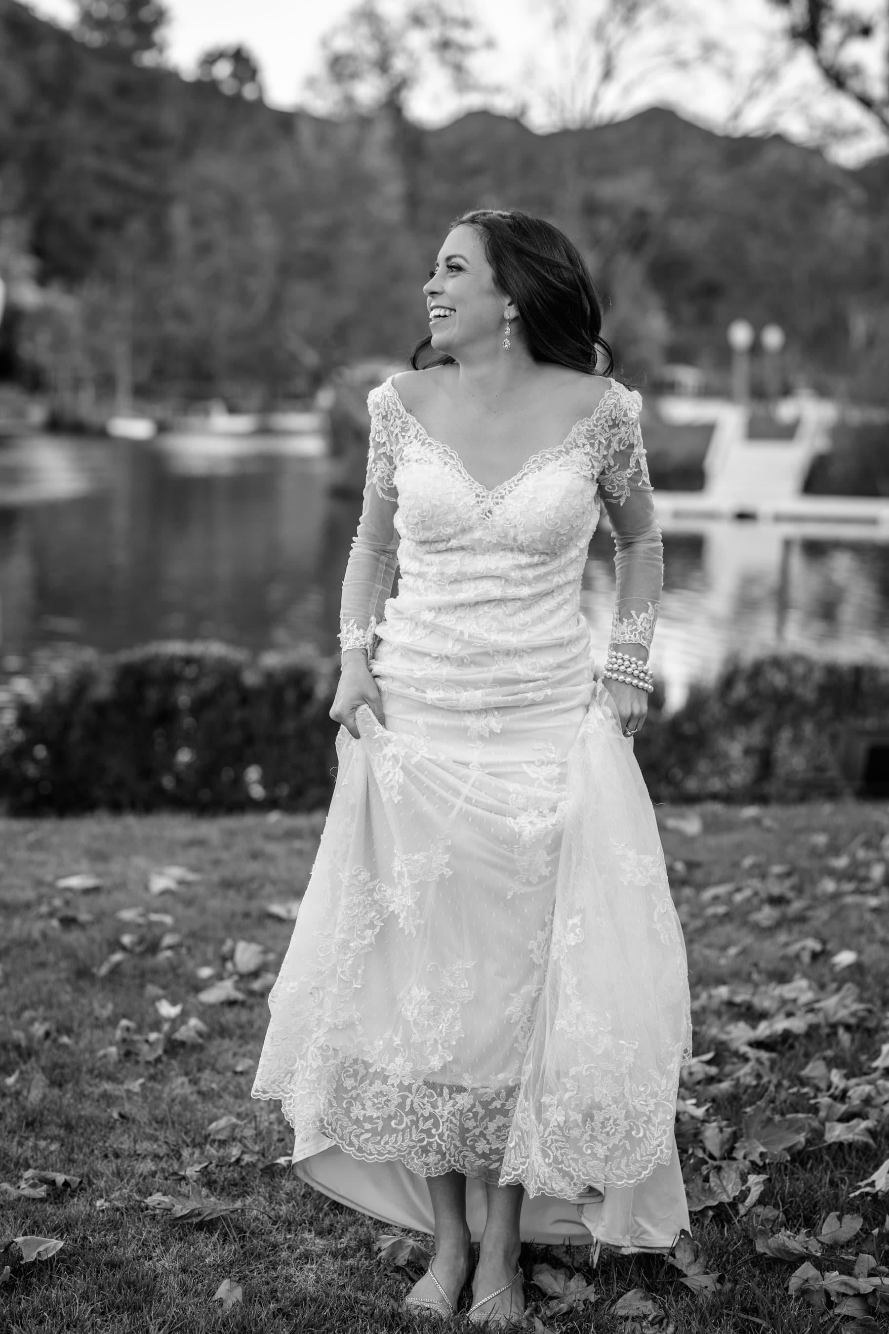 Bride Portrait at Malibou Lake