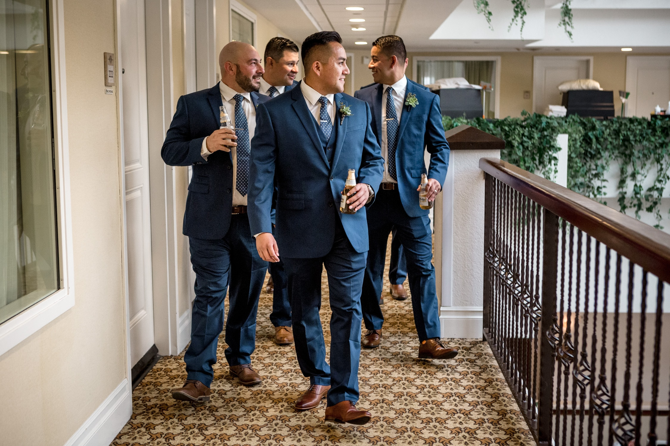 groomsmen ready captured by Palm Springs Wedding Photographer