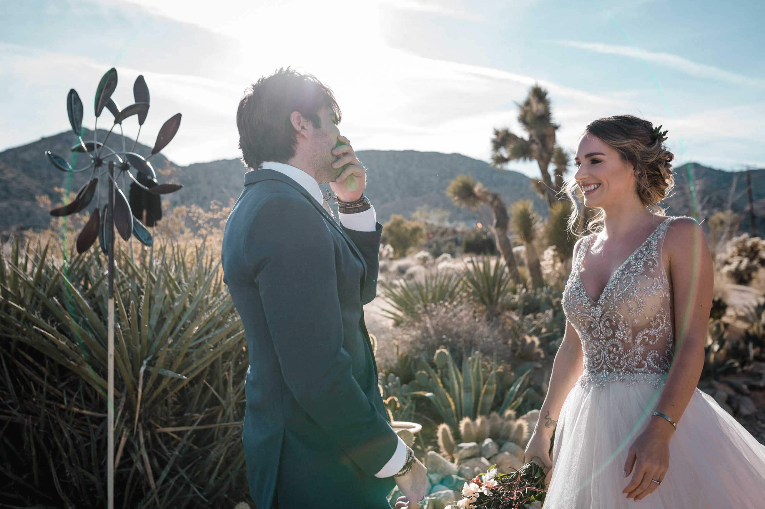 Melanie + Anthony Joshua Tree Intimate Elopement 10