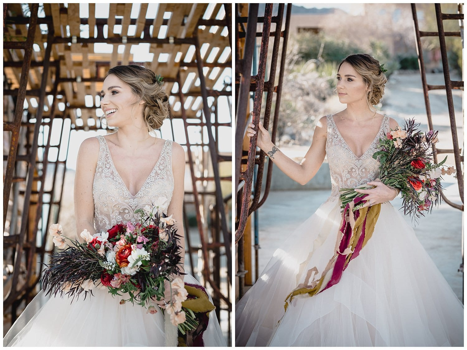 bride portraits in Joshua Tree