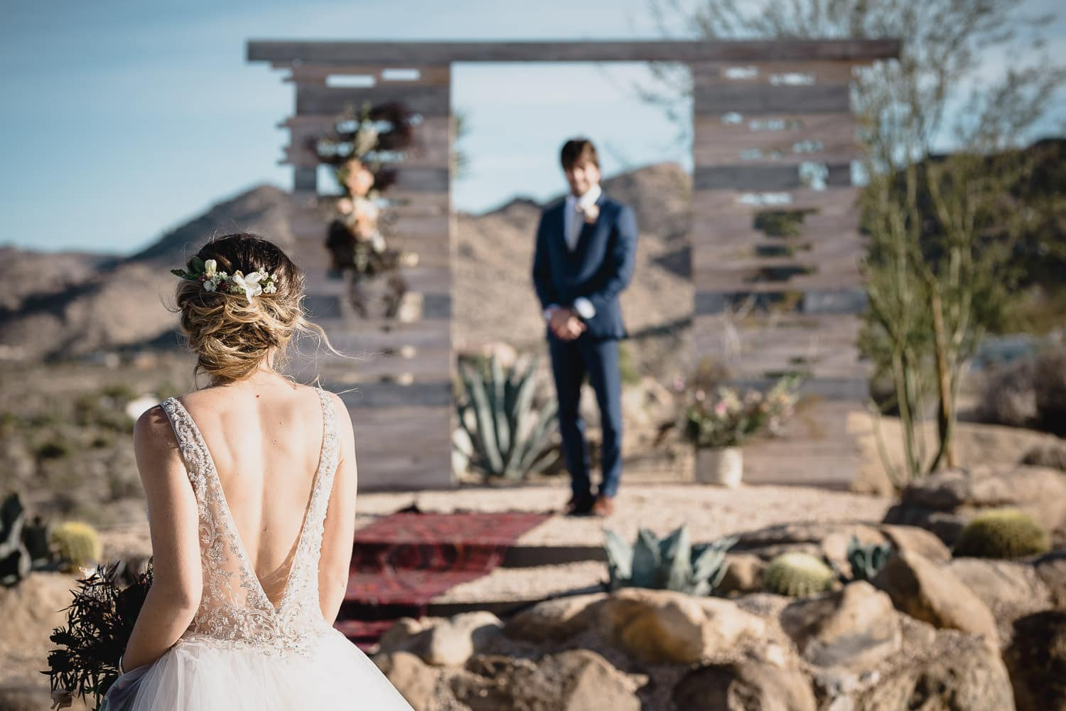 Melanie + Anthony Joshua Tree Intimate Elopement 13
