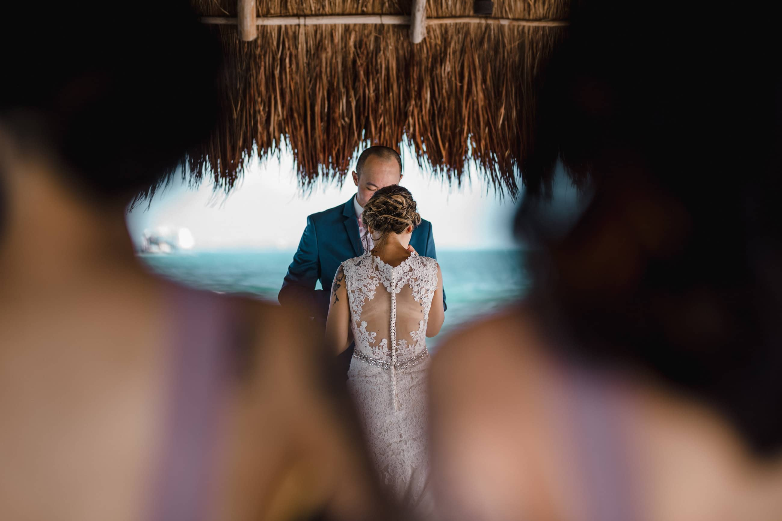 vows at Cancun wedding