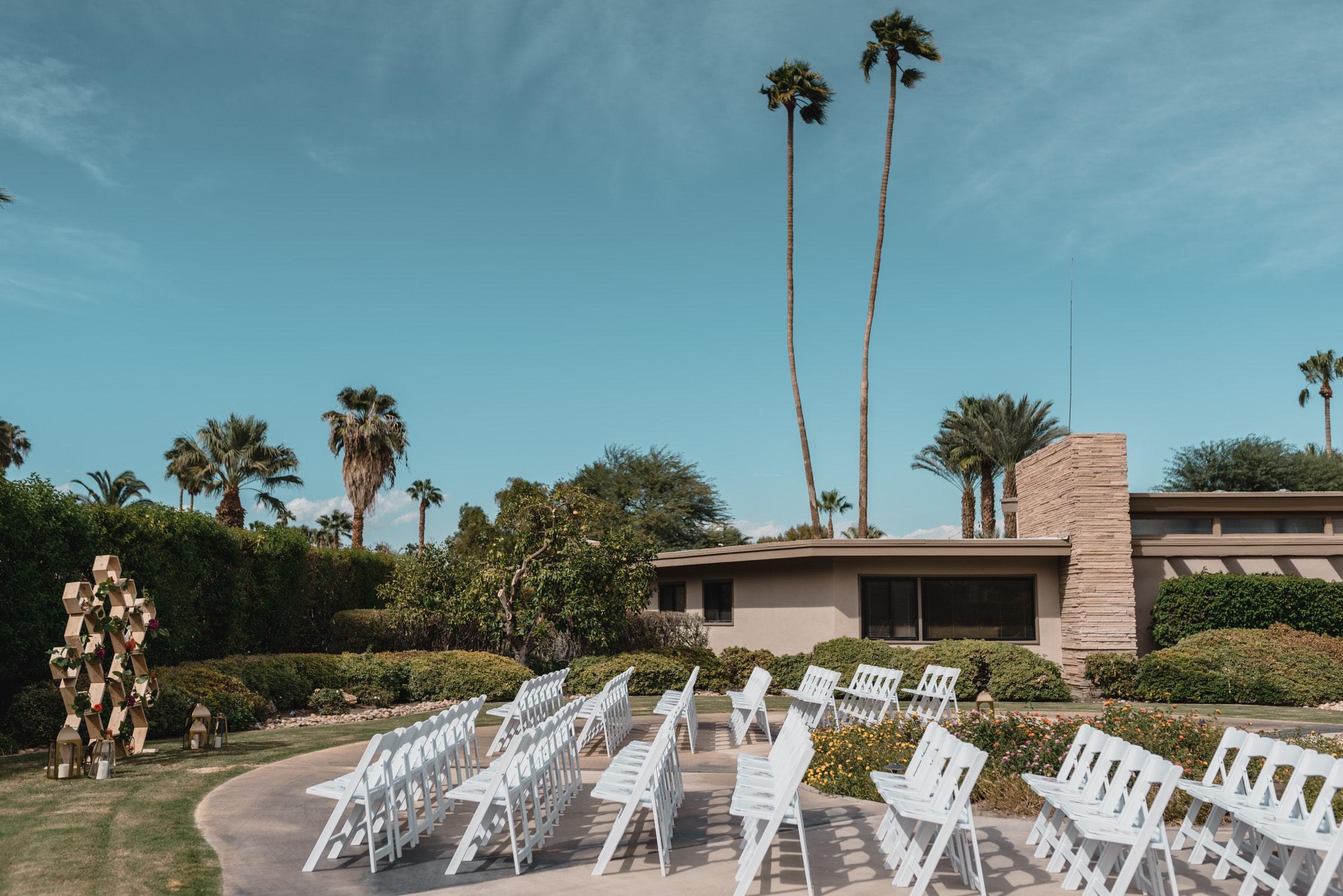 Wedding at Twin Palms Sinatra Estate
