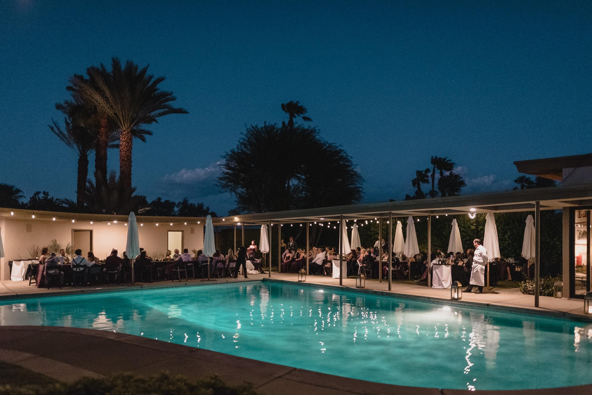 Evening Wedding at Twin Palms Sinatra Estate