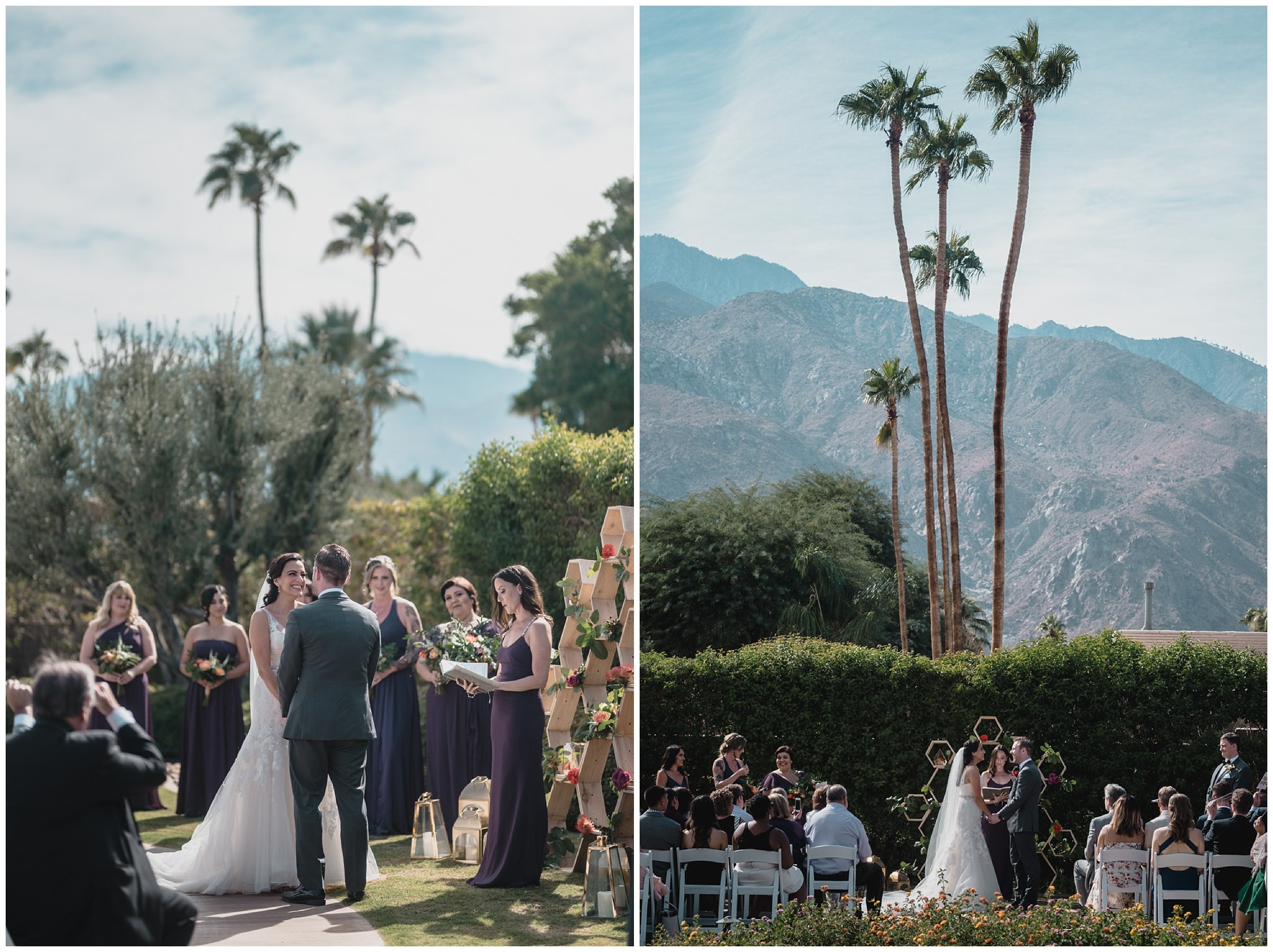 ceremony Wedding at Twin Palms Sinatra Estate