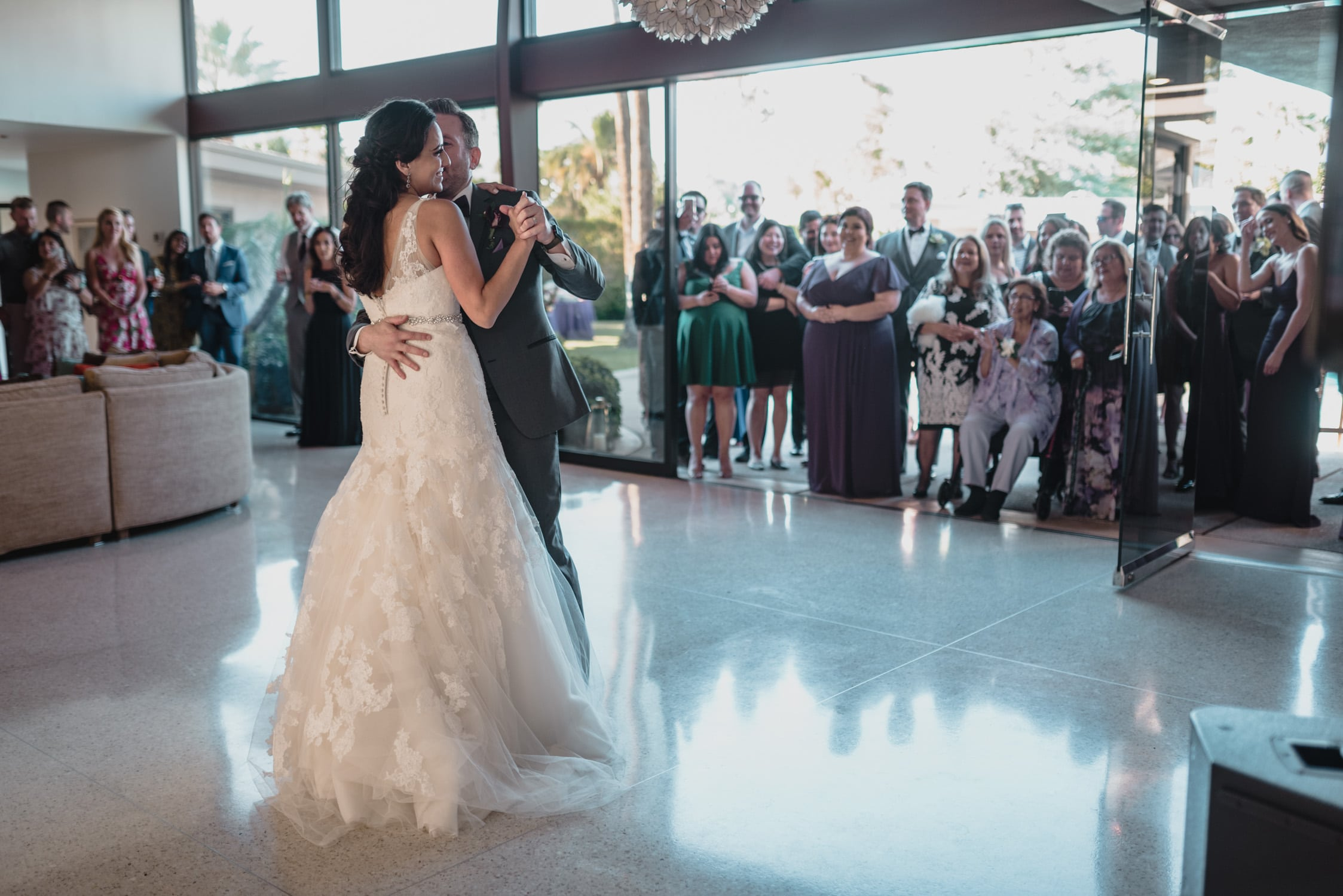 first dance Wedding at Twin Palms Sinatra Estate